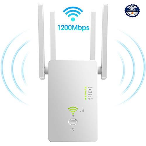 WarPanDa WiFi Repetidor Extensor de RedAmplificador 1200Mbps Dual Band Inalámbrico WiFi Booster con Apoyo Ap Repetidor Enrutador Modo