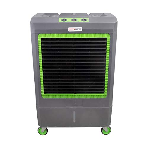 OEMTOOLS 23969 3-Speed Evaporative, 5300 CFM, Cools Up to 1,600 Square Feet, Oscillates for Broad Coverage, Evap Air Cooler with Wheels, Gray