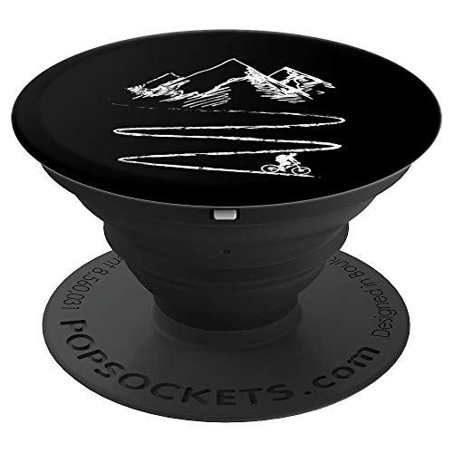 Mountain Bike Biking Bicycle Downhill Cyclist Gift PopSockets Grip and Stand for Phones and Tablets