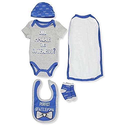 Quiltex Cuteness 4 Pc Hanging Layette Set In A Bag Coche Cama, Bondad, 3-6 Meses para Niños
