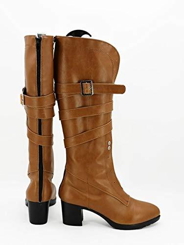 Cirilla Fiona Elen Riannon Ciri Cosplay botas zapatos marrones hechos a medida para mujeres adultas niñas 38 tamaño masculino
