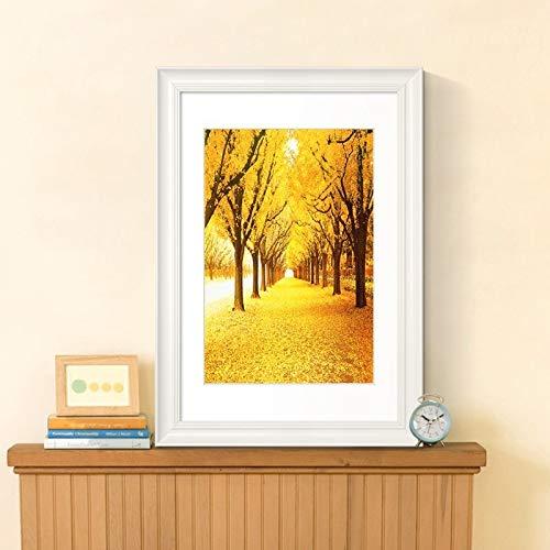 wtnhz Moderne Natur Waldlandschaft Baum Poster Leinwanddruck Wandbild Bild Wohnzimmer Hauptdekoration Kein Rahmen