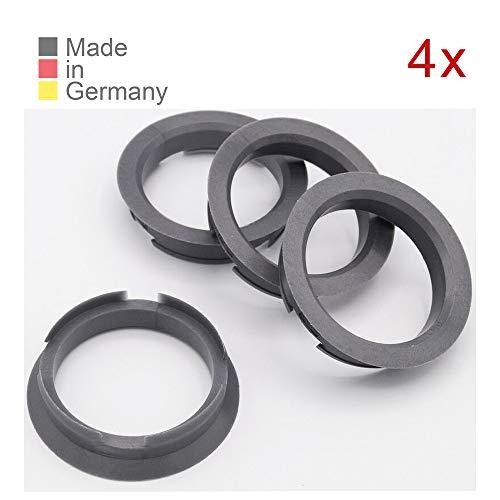 KONIKON 4X Zentrierringe 63,4 x 54,1 mm Silber Felgenringe Adapterringe für Verschiedene Felgen passend für FIAT, Mazda, Toyota, Suzuki, Kia, Hyundai, Opel, Nissan, Lexus, Citroen
