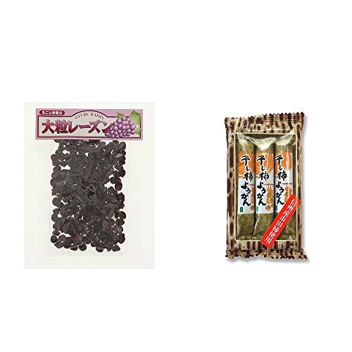 [2点セット] 大粒レーズン(280g)・信州産市田柿使用 スティックようかん[柿](50g×3本)