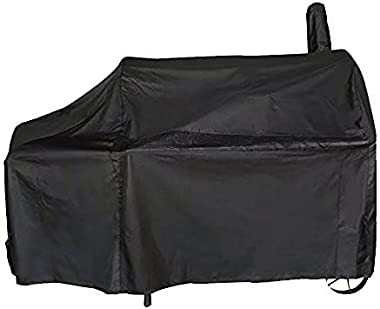 iCOVER Offset Smoker Cover 60 inch Charcoal Pellet Grill Cover Heavy Duty Waterproof 600D BBQ Smoker Cover for Brinkmann Char