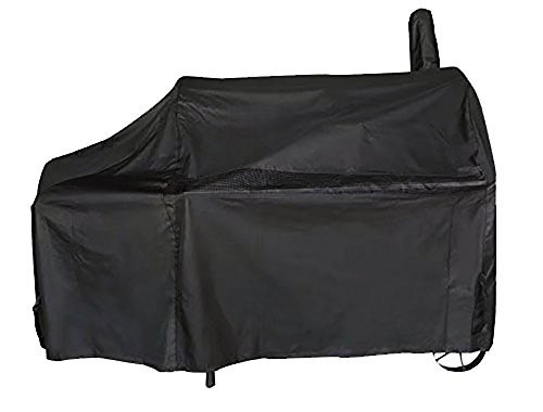 iCOVER Offset Smoker Cover, 60 inch Charcoal Pellet Grill Smoker Cover 600D Heavy Duty Waterproof BBQ Smoker Cover for Brinkmann Char-Broil Weber Nexgrill New Braunfels Oklahoma Joe's