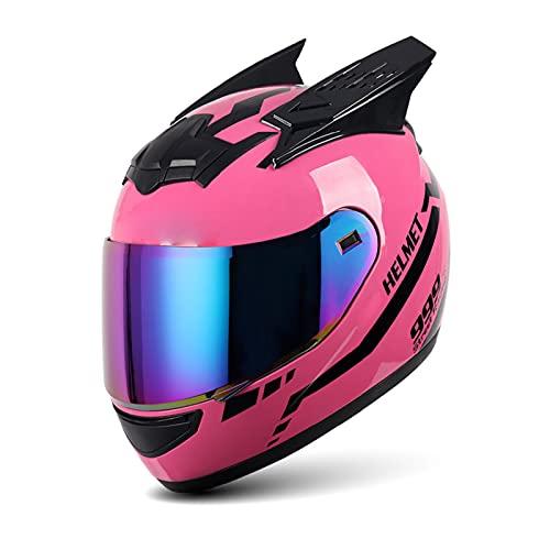 Full Face Motorhelm Opklapbare Modulaire Helm Met Vizier En Hoorns DOT/ECE Goedgekeurd Motor Bromfiets Straat Fiets…