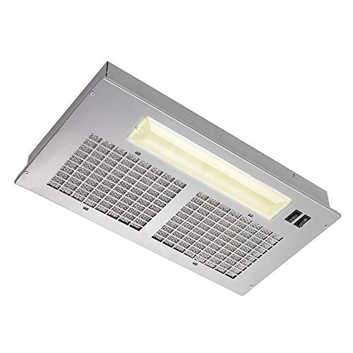 Broan Aluminum Power Pack Range Hood Insert  Exhaust Fan and Light Combo for Over Kitchen Stove  Silver  8.0 Sones  250 CFM
