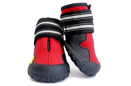 WELBLQ Huisdier Schoenen Waterdicht Mode Hond Schoenen Ademend Medium En Grote Hond Schoenen Sandalen Zomer, 7#, Rood