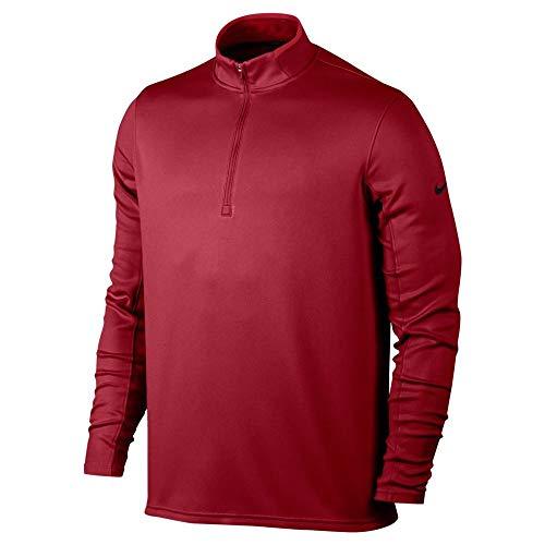 NIKE Dry Half-Zip Men's Golf Top - Gym Red (2XL)