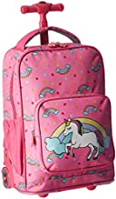 J World New York Kids' Sparkle Rolling Backpack, Unicorn, One Size