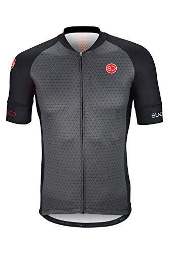 Sundried Jersey de Ciclo para Hombre Manga Corta Profesional de Bicicletas de montaña y Carretera Accesorios de Ciclismo