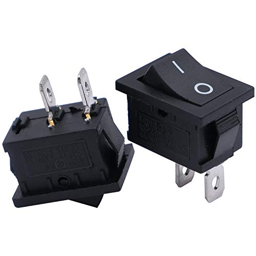 mxuteuk 8pcs Snap-in Boat Rocker Switch Toggle Power SPST ON-Off 2 Pin AC...