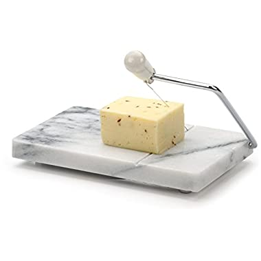 RSVP White Marble Cheese Slicer and Cutter