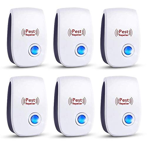 FL Falatier Ultrasonic Pest Repeller, 6 Packs Pest Repellent, Electronic Indoor Pest Control Electronic Plug in, Insect Repellent for Home, Bedroom, Office, Kitchen, Warehouse, Hotel -White