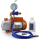 BACOENG Juego de manómetros diagnósticos, Bomba de vacío, Equipo del indicador de la manguera de medición Ideal para R22 R134a R410A R407C