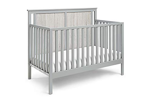 Suite Bebe Connelly 4 in 1 Convertible Crib in Gray with Rockport Wood