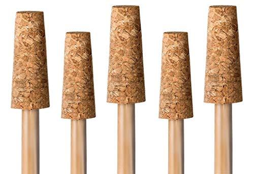 Korken für Rosenkugel | 5er Pack | Korkaufsatz für Rosenkugelstab | Ersatzkorken Gartenkugeln | konischer Korken für Dekokugeln