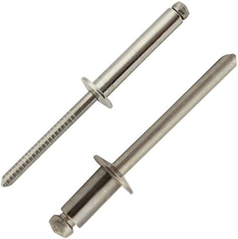 rostfrei - mit Flachkopf Edelstahl A2 V2A 100 St/ück 5 x 40 mm Blindniet Niet Popnieten DIN 7337 ISO 15983 Eisenwaren2000