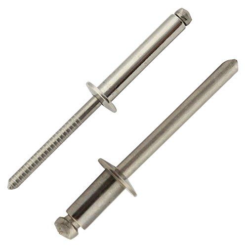 Blindnieten mit Flachkopf - 5x10 mm - (40 Stück) - DIN 7337 Form A - Popnieten - Edelstahl A2 (V2A) - SC7337 | SC-Normteile