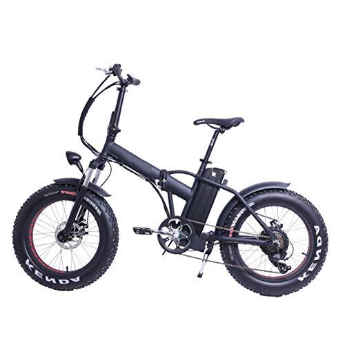 sunyu 500W Bicicletas eléctricas, Fat Tire Ebikes de 20 Pulgadas Campo de Nieve Playa de Arena Coche eléctrico Plegable con 36V 10Ah Batería de Litio extraíble