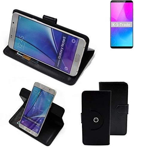 K-S-Trade® Handy Hülle Für Nubia Z18 Mini Flipcase Smartphone Cover Handy Schutz Bookstyle Schwarz (1x)