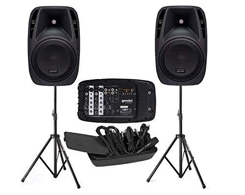 Impianto Audio per karaoke, animazione, presentazione, ecc, ES 210 MX BLU KIT- 2 diffusori da 600w,...