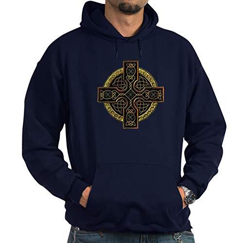 CafePress Celtic Cross Pullover Hoodie, Classic & Comfortable Hooded Sweatshirt Navy