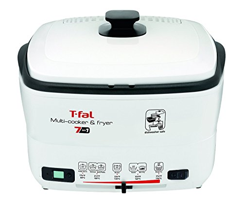 T-fal FR490051 7-in-1 Multi-Cooker and Deep Fryer with Nonstick Removable Bowl and Timer, 2.2 Pound, White