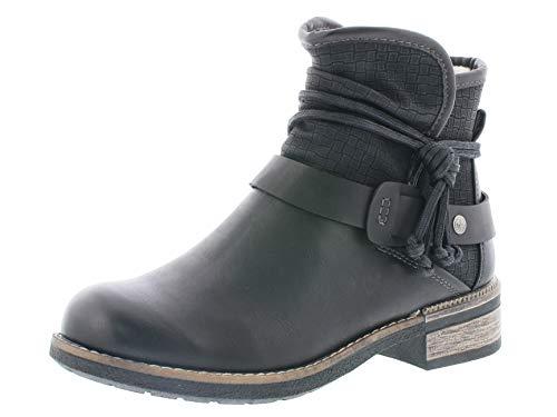Rieker Damen Stiefeletten 94689, Frauen Stiefelette, Stiefel Boots halbstiefel Bootie gefüttert Damen Frauen Lady,schwarz,39 EU / 6 UK