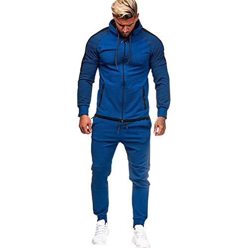 Herren Pullover Sweatjacke Oversize, ITISME 2019 Slim Fit Basic Taschen StreetwearHerren Herbst Winter Pocket Sweatshirt Top Hosen Sets...