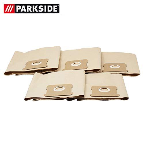 Parkside Papierfilterbeutel, Staubsaugerbeutel für Nass-Trocken Sauger PNTSA 20-Li A1 - LIDL IAN 310656 (5 Stück)