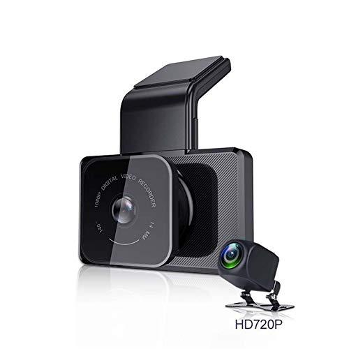 WGFGXQ Cámara De Salpicadero para Coches, Grabación De Vídeo De Doble Lente Visión Nocturna Monitor De Aparcamiento 1080P Coche DVR WiFi Grabación En Bucle Monitor De Aparcamien