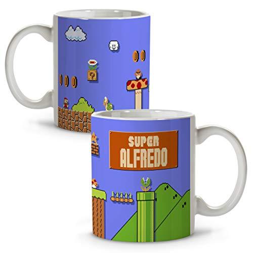 LolaPix Taza Mario Bros. Tazas Personalizadas. Regalo Friki. Tazas Originales con Nombre. Mario Bros