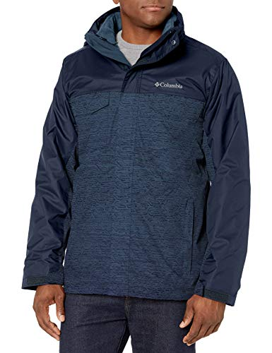 Columbia Men's Timberline Triple Interchange Jacket, Dark Mountain tech Lines, coll Navy, Medium