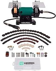 VONROC Dubbele slijper, dubbele slijpmachine, multifunctioneel gereedschap 150 W - 75 mm met flexibele as.