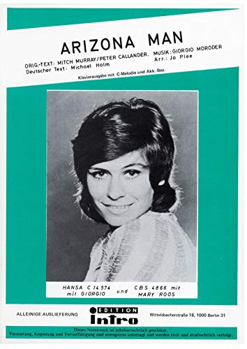 Arizona Man: as performed by Mary Roos, Single Songbook (German Edition)