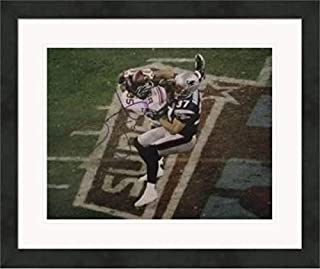 Autographed David Tyree Picture - 11x14 Super Bowl XLII Catch) #2 Matted & Framed - Autographed NFL Photos