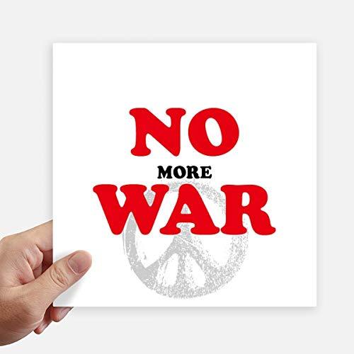 DIYthinker No More Guerre Mondiale Love Peace World Square Autocollants 20CM Mur Valise pour Ordinateur Portable Motobike Decal 4Pcs 20cm x 20cm Multicolor