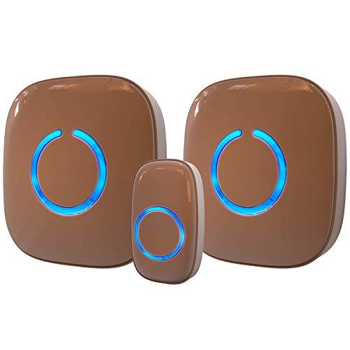 Wireless Doorbell for Home - SadoTech Waterproof Doorbell & Chimes Wireless Kit - At Over 1000-feet...