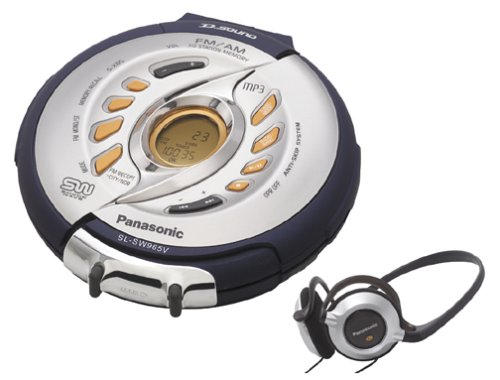 Panasonic SL-SW965VS Shockwave Portable MP3-CD Player with AM/FM Tuner (Silver)