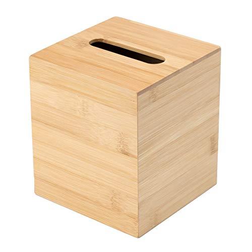 JUSK Design Bamboo Tissue Box Holder - Muti-Size (Rectangular, Square) - Square
