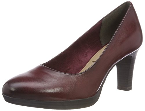 Tamaris Damen 22410 Geschlossene pumps, Rot (Bordeaux 549), 37 EU