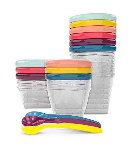 Babymoov Babybols Aufbewahrungsbehälter für Babynahrung - Multi-Set 15-teilig (3x120ml + 3x180ml + 6x250ml + 3 flexible Löffel)