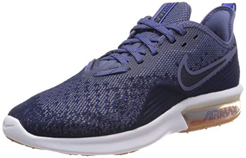 Nike Herren Air Max Sequent 4 Fitnessschuhe, Mehrfarbig (Midnight Navy/Obsidian/Diffused Blue 400), 42.5 EU