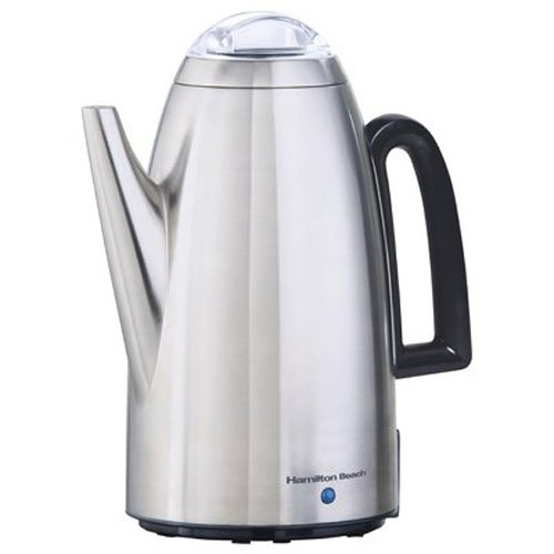 Hamilton Beach 40614 12-Cup Electric Percolator in Stainless Steel