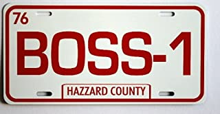 DUKES OF HAZZARD BOSS-1 BOSS HOGG Metal LICENSE PLATE COMPATIBLE WITH CADILLAC Fan REDNECK Southern Rebel South Moonshine Nascar TAG 6 X 12 HOT Rod Classic Museum Collection Novelty Gift Sign