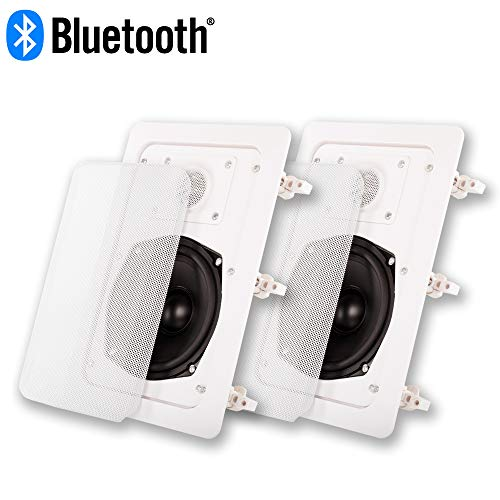 Great Features Of Acoustic Audio IW-191 Bluetooth Flush Mount in Wall Powered Speaker 2-Way Pair