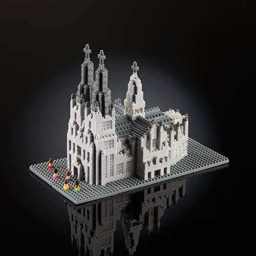 Brixies 410190 - Kölner Dom, 3D-Puzzle, Germany Edition, 1284 Teile, Schwierigkeitsstufe 5 für Experten, Mehrfarbig
