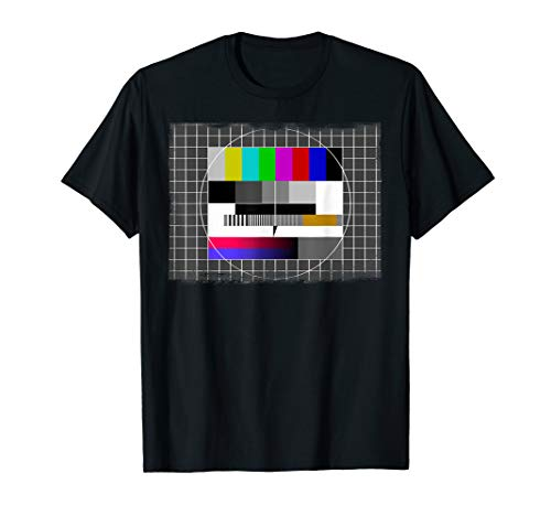 80er Jahre Kostüm Tshirt - TV Testbild Sendepause T-Shirt T-Shirt